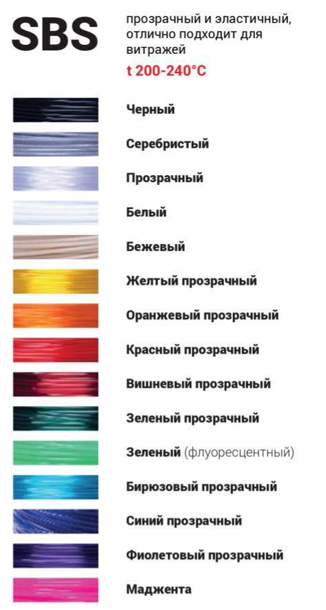 Набор для 3D ручек (SBS, 16 цветов)