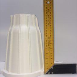 Распечатанный светильник без постобработки